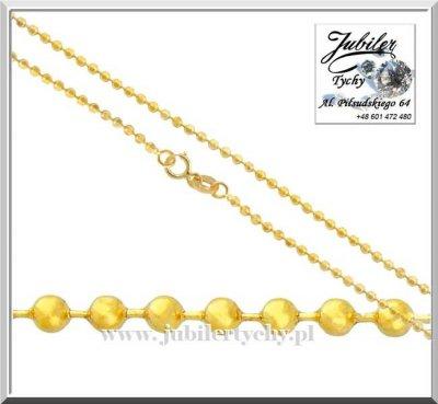 Złoty łańcuszek KULKI - splot łańcuszka kuleczki