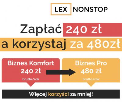 Zabezpiecz siebie i swoją firmę z pakietem prawnym LEXNONSTOP
