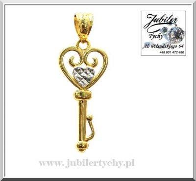 Złota zawieszka klucz / złoty kluczyk