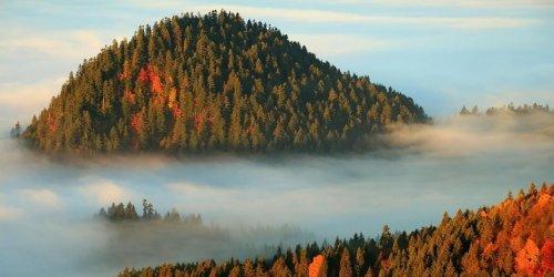 Morza chmur w Pieninach